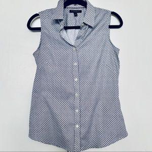 BANANA REPUBLIC sleeveless tailored shirt, pattern